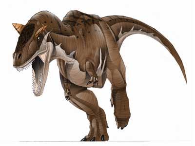 Le dinosaure Carnotaurus.