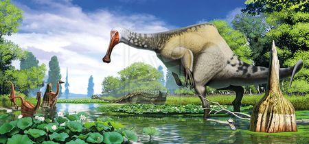 Le dinosaure Deinocheirus mirificus.