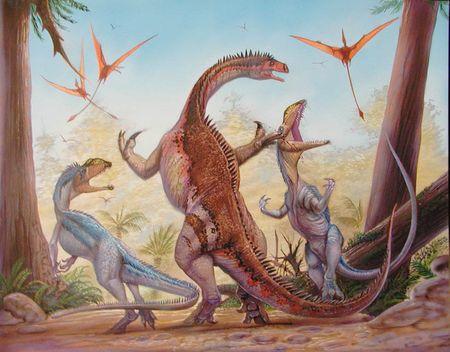 dinosaure plat�osaure a �t� d�couvert � Frick en Argovie.