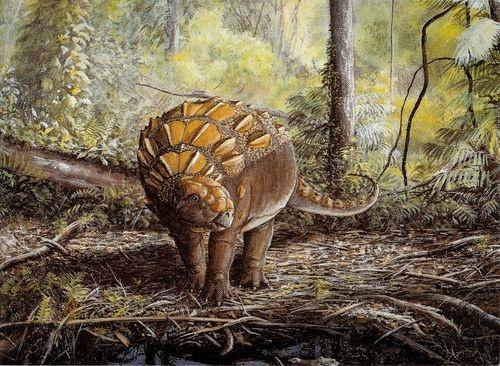 Le dinosaure Panoplosaurus.