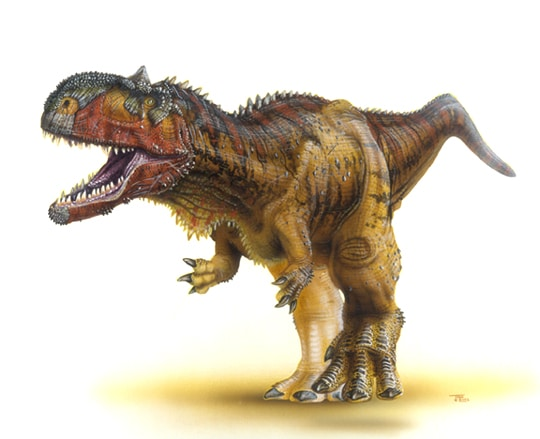 Le dinosaure Rajasaurus.