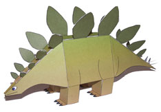 Maquette de dinosaure Stegosaure.