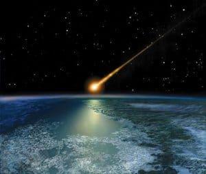 Chute d'une météorite, c'est ce qui a peut être tué les dinosaures.