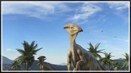 Dinosaure Parasaurolophus.