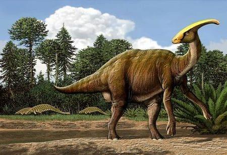 Parasaurolophus.