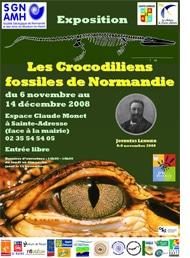 Exposition sur les Crocodiliens mésozoïques normands.