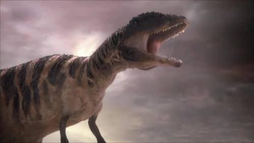 Le dinosaure Carcharodontosaure.