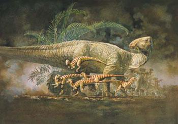 Le dinosaure Tenontosaurus.