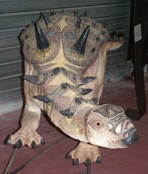 Le dinosaure ankylosaure Struthiosaurus.