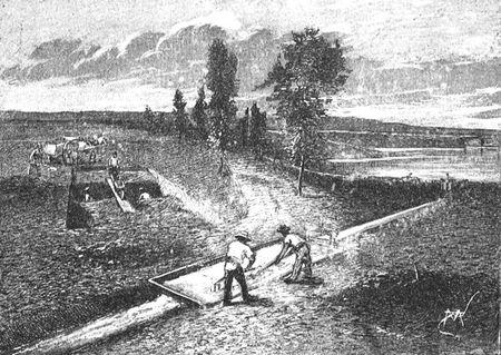 Exploitation des nodules phosphatés des Sables verts de la Meuse et des Ardennes.