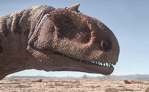 Le dinosaure Majungasaurus, qui a vécu à Madagascar à la fin du Crétacé.