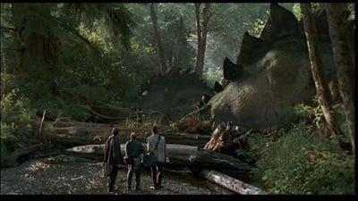 Stegosaurus, vue extraite du film Jurassic Park.