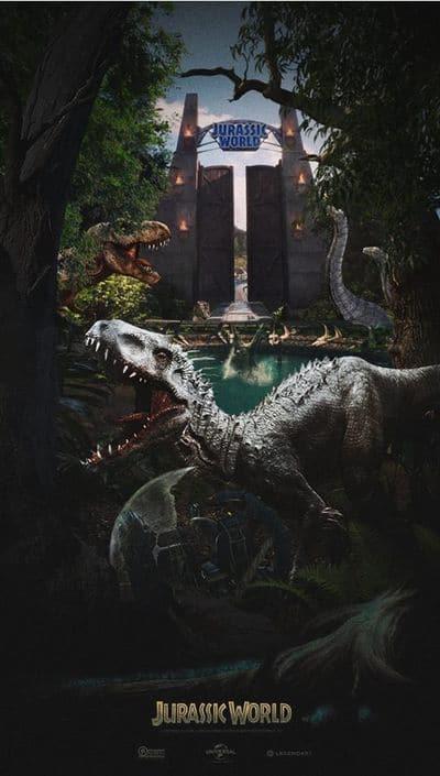 Affiche cinéma du film Jurassic World.