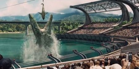 Le reptile marin du film Jurassic World.