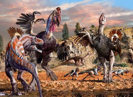 Dinosaure Gigantoraptor.