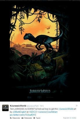Velociraptor du film Jurassic World.
