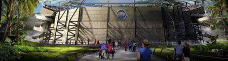 Arène où est montré Indominus Rex.