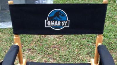 Le siège d'Omar Sy lors du tournage du film.