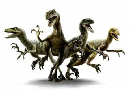 Velociraptors dressés par Omar Sy.