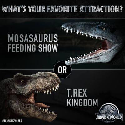 Tyrannosaure ou Mosasaure ?